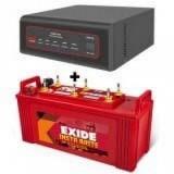 EXIDE XTATIC 650VA Pure Sine Wave Inverter & EXIDE INSTA BRITE IB1500 150AH Flate Plate Battery